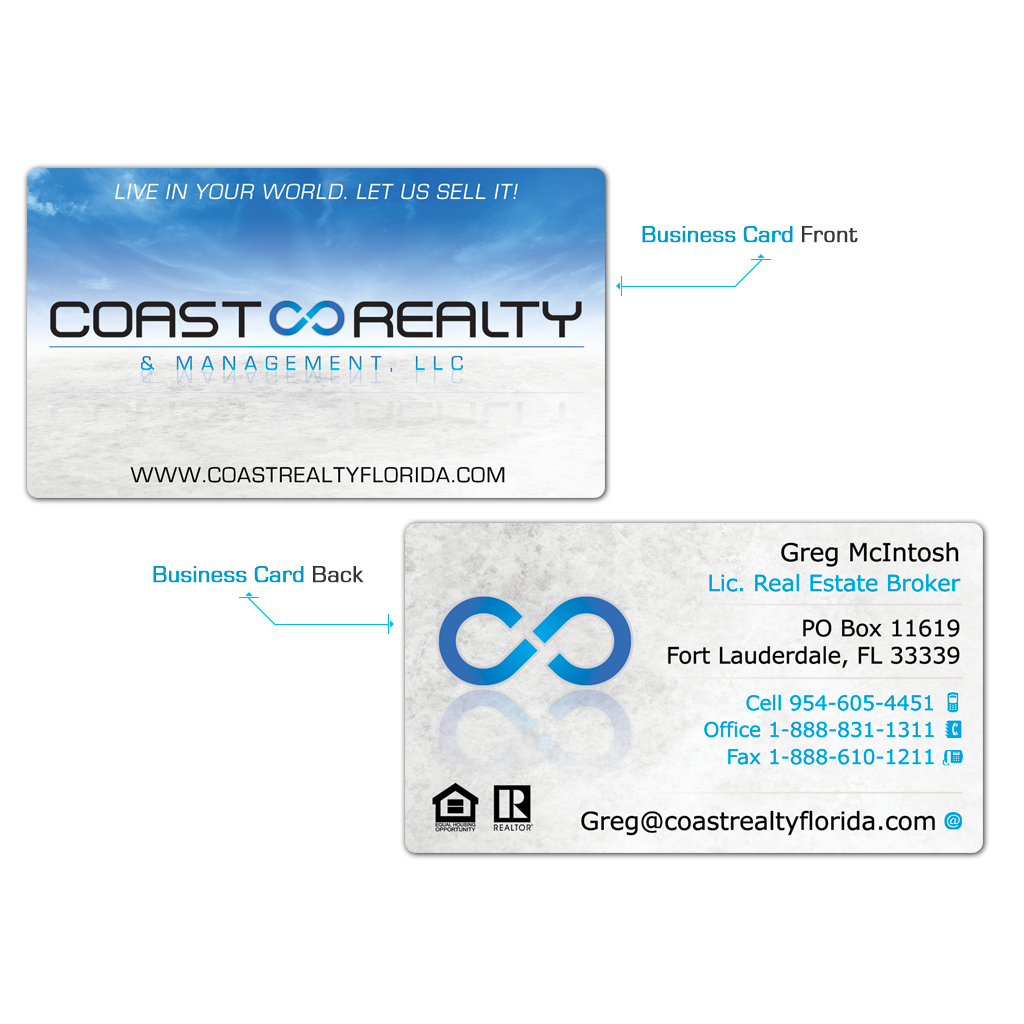 Coast Realty Business Cards