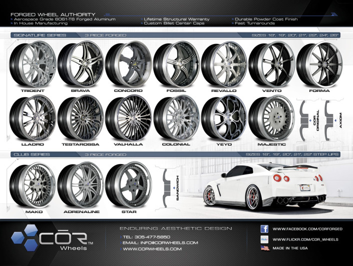 COR Specification Sheet Front