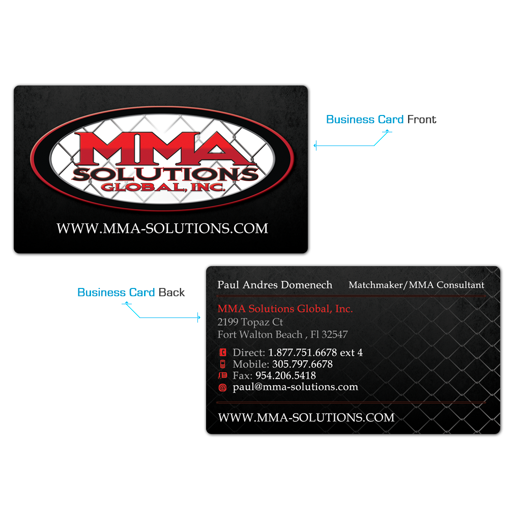 MMA Solutions Business Card Design